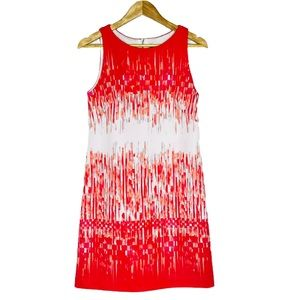 Vince Camuto Abstract Striped Shift Dress 6